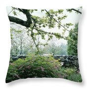 A Flower Bed In Mrs. Frank Audibert's Garden Throw Pillow