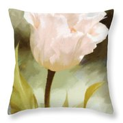 One Beautiful Flower Impressionism Throw Pillow