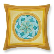 A Flower Released Throw Pillow