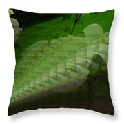 A Flower Repeating Itself Throw Pillow