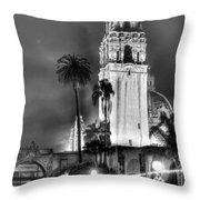 A Foggy Night On Balboa Throw Pillow