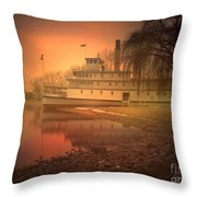 A Foggy Sunrise Throw Pillow