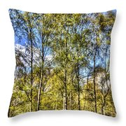 A Forest Glade Throw Pillow