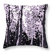 A Forest Silhouette Throw Pillow