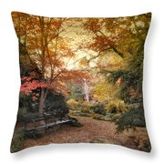 A Formal Garden Throw Pillow