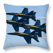 A Formation Of Angels Throw Pillow