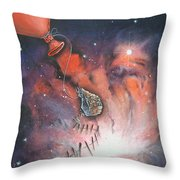 A Fraction Of Action Throw Pillow by Krystyna Spink