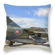 A French Air Force Mirage F1 Throw Pillow