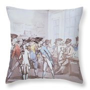 A French Coffee House Throw Pillow