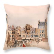 A French Market Place Throw Pillow
