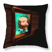 A Friend - Off The Wall Series - # 2 Throw Pillow