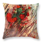 A Frog In Love Throw Pillow