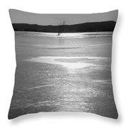 A Frozen Lake Throw Pillow