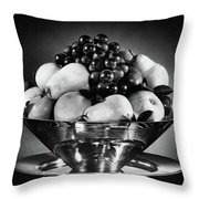 A Fruit Bowl Throw Pillow