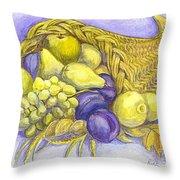 A Fruitful Horn Of Plenty Throw Pillow