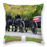 A Funeral In Arlington Throw Pillow