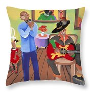 A Funky Kind-a-party Throw Pillow