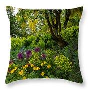A Garden Of Color Throw Pillow