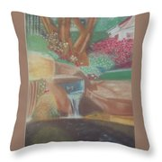 A Garden Of Peace Throw Pillow
