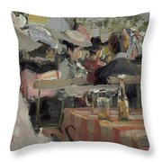 A Garden Restaurant Throw Pillow