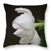 A Gardenia Profile Throw Pillow