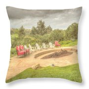 A Gathering Of Friends Throw Pillow