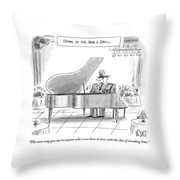 A General Plays Piano At A Bar Throw Pillow