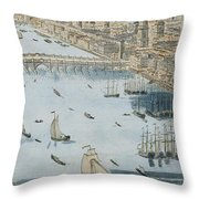 A General View Of The City Of London And The River Thames Throw Pillow