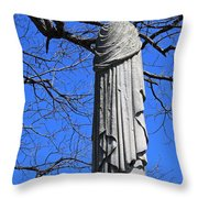 A General's Draped Monument Throw Pillow