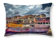 A Genesis Sunrise Over The Old City Throw Pillow by Ronsho