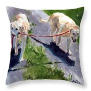 A Gentle Lead Throw Pillow