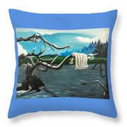 Aura On The Lake Throw Pillow