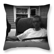 A Ghostly Figure Throw Pillow