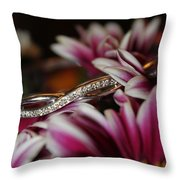 A Gift Amongst The Flowers Throw Pillow