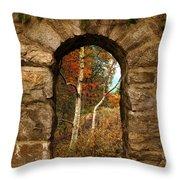 A Gimpse Of Autumn Throw Pillow