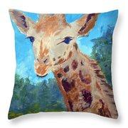 A Giraffe For Ori Throw Pillow