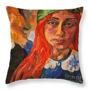 A Girl's View Of War 2 Throw Pillow