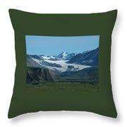 A Glacier Receding Throw Pillow