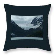 A Glacier Receding - II Throw Pillow