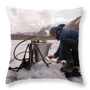 A Glaciologist Tinkers With A Steam Throw Pillow