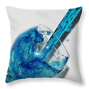 A Glass Of Rain Throw Pillow