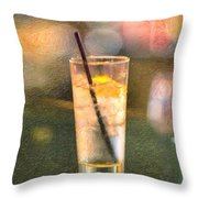 A Glass Of Water Throw Pillow