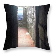 A Glimpse Of The Sea Throw Pillow