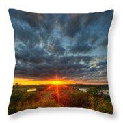 A Glorious Minneapolis Sunset Throw Pillow