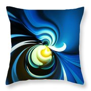 A Glow Of Yellow Throw Pillow