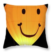 A Glowing Smile Throw Pillow