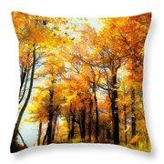 A Golden Day Throw Pillow