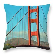 A Golden Gate View Throw Pillow