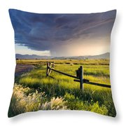 A Golden Moment Throw Pillow