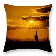 A Golden Southwest Sunset  Throw Pillow